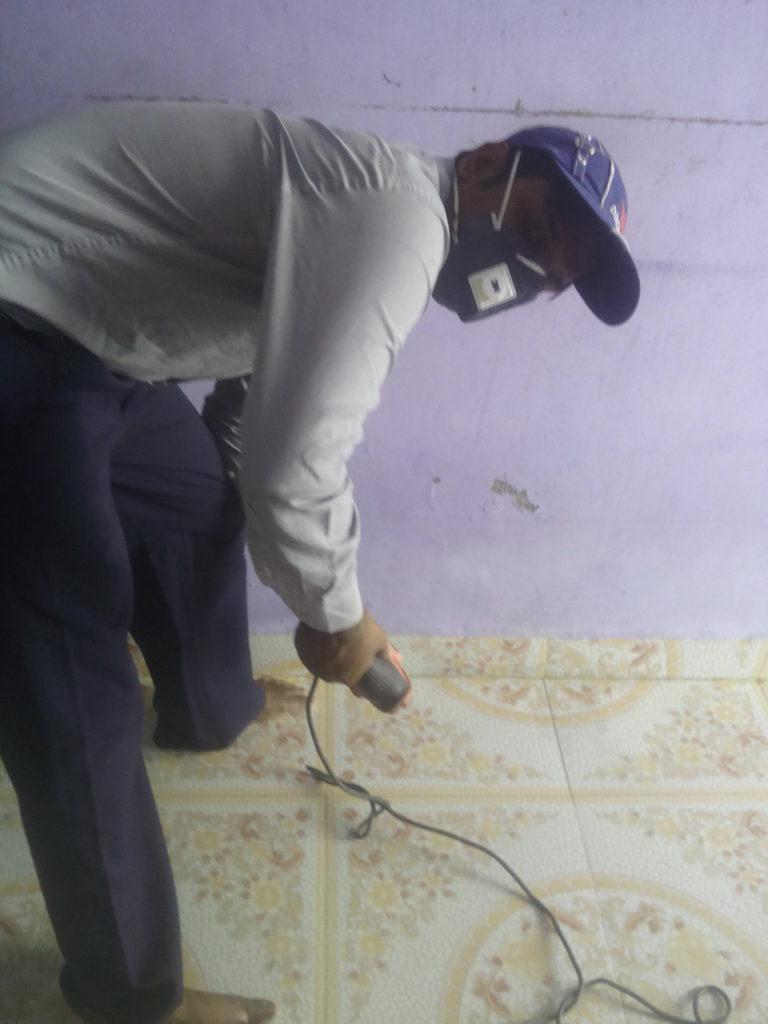 Drilling At Wall 2